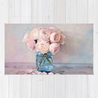 English Roses Rug by sylviacookphotography