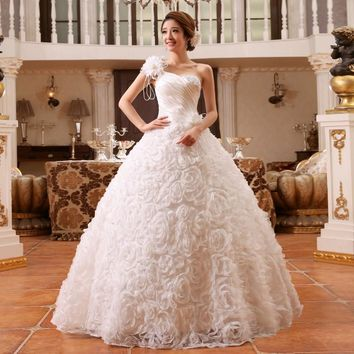 White Red Princess Fashionable Wedding Dress romantic tulle wedding dresses HS083
