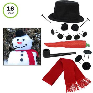 Evelots My Very Own Snowman Kit, Winter Fun For All,16 Pieces Per Set