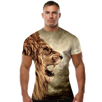 Lion Unisex T-shirt - All Over Print