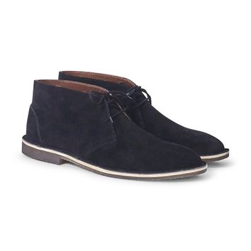 The Idle Man Suede Desert Boot Black
