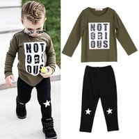 Kid Newborn Baby Outfit Infant Baby Boys Clothes Set Suit Toddler Top Long Sleeve Cotton Pants Casual Clothing Boy