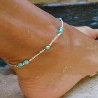 1Pcs Unique Nice  Beads Silver Chain Anklet souvenir Ankle Bracelet Foot Jewelry Fast Free Shipping New Hot Selling