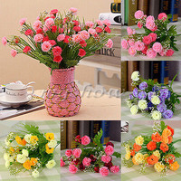 Artificial Carnation 23 Head Fake Silk Flowers Bouquet Home Decor Wedding Party