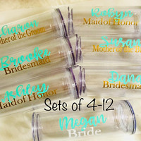 Bridesmaid Tumblers, Sets of Tumblers, Bridesmaid Tumblers, Cups with names, Bridesmaid Proposal, Personalized Wedding Tumblers