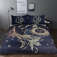 Sun and Moon Night Sky Duvet Set