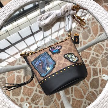 Kuyou Gb89815 Coach 32930 Crossbody Bag In Leather With Studs 15*17*10cm
