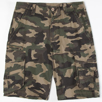 Subculture Mens Ripstop Cargo Shorts Military  In Sizes