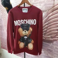 Moschino Fashion Casual Long Sleeve Sport Top Sweater Pullover Sweatshirt-3