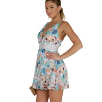 Sale-ivory Feeling Floral Skater Dress