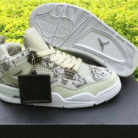 "Air Jordan 4 Premium ""Snakeskin"" Men's Leather Sneaker"