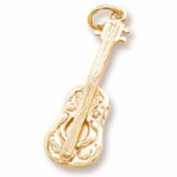 Ukulele Charm In Yellow Gold