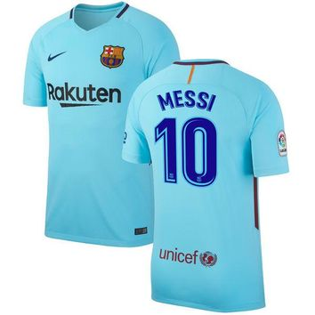 Messi Jersey Barcelona Away 2017 2018