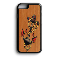 Anchor Wood iPhone 4s iPhone 5 iPhone 5c iPhone 5s iPhone 6 iPhone 6s iPhone 6 Plus Case | iPod Touch 4 iPod Touch 5 Case