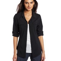 ExOfficio Women's Kizmet Camper Long Sleeve Shirt,Black,Medium