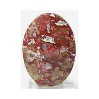 Red Bog Moss Agate Stone Calibrated Flat Back Oval Cabochon 30 carats 30x22 mm Loose Jewel