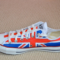 British Flag custom converse by bayword123 on Etsy