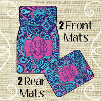 Monogrammed Floor Mats >> Shop Monogram Car Floor Mats On Wanelo