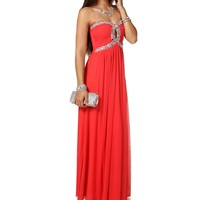 Sale-natia-strapless Long Prom Dress
