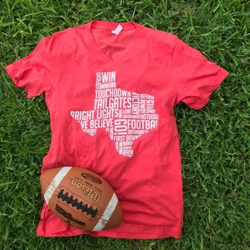 Football Phrases Tee - RED