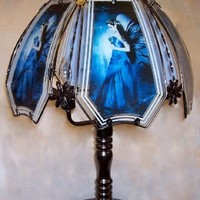 Beautiful Fairy In Blue Touch Lamp