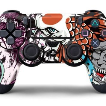 PS4 Controller Designer Skin for Sony PlayStation 4 DualShock Wireless Controller Tsunami