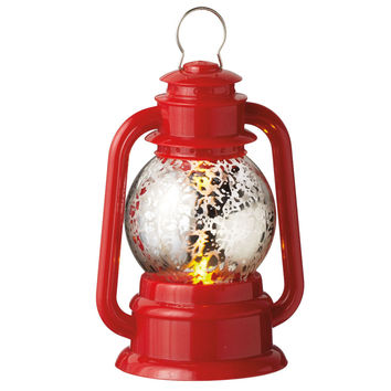 Red Lantern LED Light-up Christmas Ornament Battery Operated