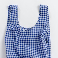 Blue Gingham Standard Reusable Shopping Bag by Baggu