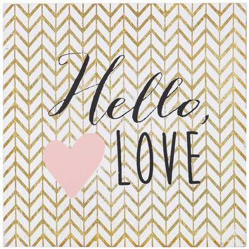 Hello Love Wood Wall Decor | Hobby Lobby | 1028125