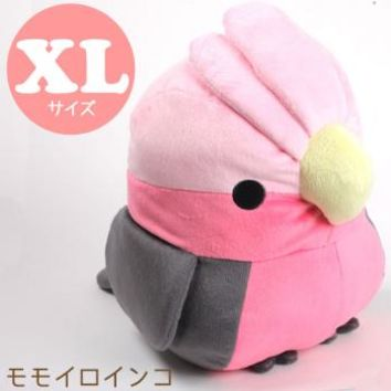 Strapya World : Soft and Downy Large Bird Stuffed Toy (Munyu-Mom Series) (Galah / XL size 30 cm)