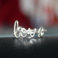 Love Ring Sterling Silver Wire  Handcrafted by FabulousWire