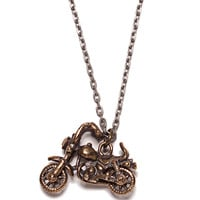 Motorcycle Necklace for Men