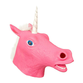 Halloween Pink Unicorn Mask