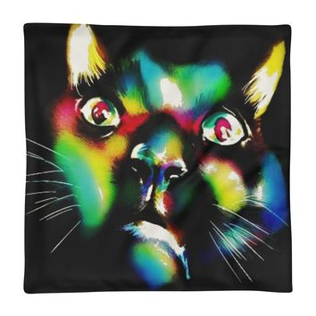 The Colored Cat - PILLOW CASE ONLY
