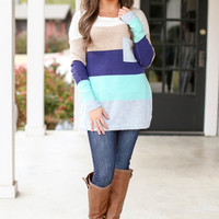 Around the Band Sweater - Mint