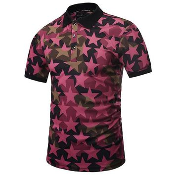 Men's Fashion Pentagram Polo