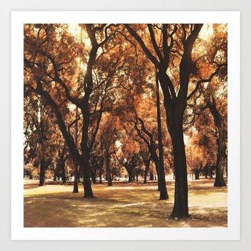 Through The Trees Art Print by Viviana Gonzalez