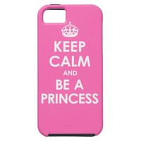 Hot Pink Keep Calm & Be a Princess iPhone 5 Case from Zazzle.com