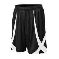 TOPTIE Men Basketball Shorts, Viscose Knit, Adult, No Pockets