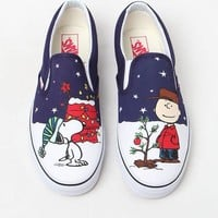DCCKYB5 Vans x Peanuts Holiday Classic Slip-On Shoes