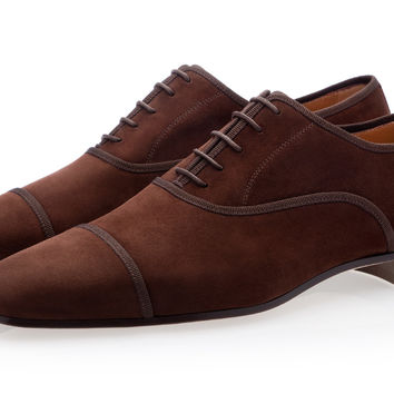 POLIN VELUKID BROWN LACE-UP