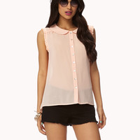 Ruffled Peter Pan Collar Top | FOREVER 21 - 2035928862