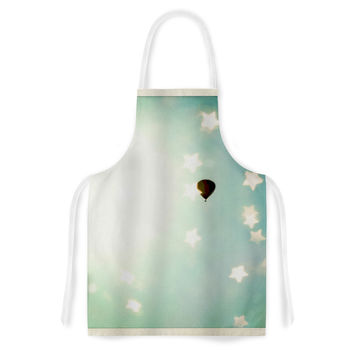 "Robin Dickinson ""Amongst The Stars"" Teal Stars Artistic Apron"