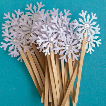 Hot Chocolate Bar Snowflake Stir Sticks | Winter Onederland | Winter Wedding | Bridal Shower | Holiday Party