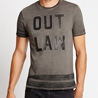 "Short-Sleeve Crewneck ""Outlaw"" Tee 