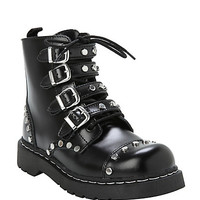 Anarchic By T.U.K. Studded & Strapped Combat Boots