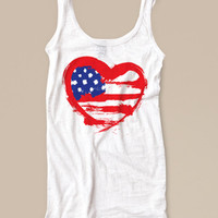 DonDeMarco Women's 4TH OF JULY American Flag Tank Top