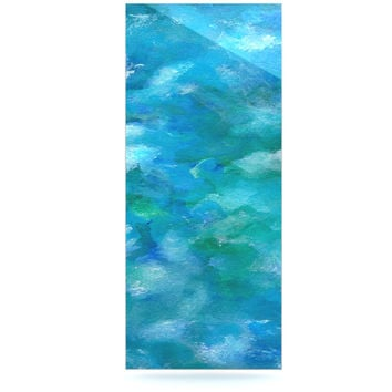 "Rosie Brown ""Ocean Waters"" Blue Aqua Luxe Rectangle Panel"