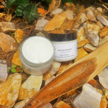 Shea Butter Herbal Hair & Scalp Cream – Small Batch Handmade – Herbal Hair Cream  – Thinning Hair Scalp Treatment – Shea Butter Hair Cream
