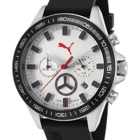 Puma Men's Motor Sport Chronograph Watch, 44mm - White